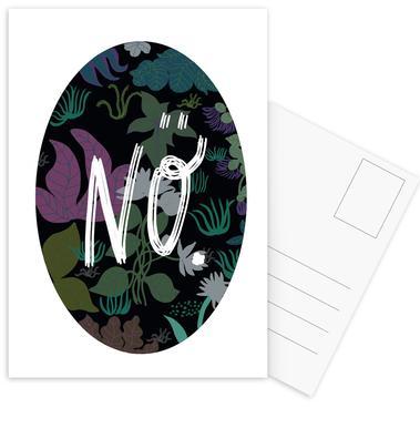 No Postcard Set