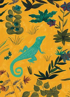 Lizard canvas doek
