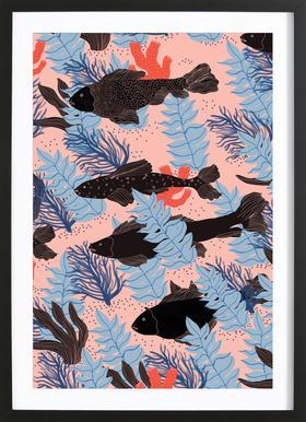 Fishes -Bild mit Holzrahmen