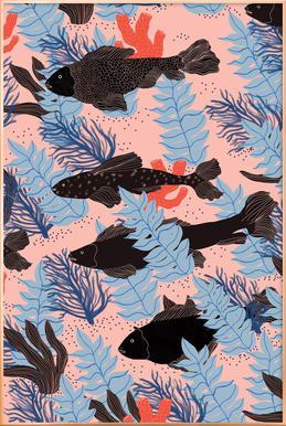Fishes -Poster im Alurahmen