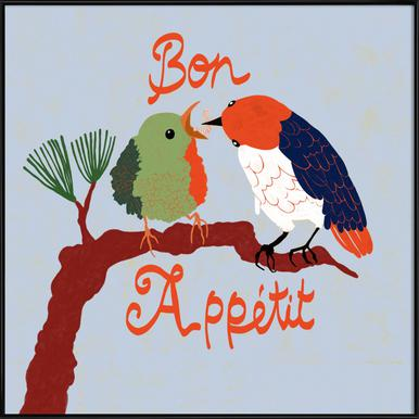 Bon Appétit ingelijste poster