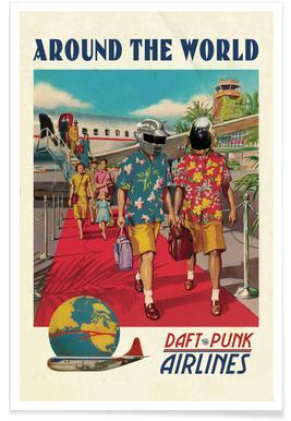 Around The World - Premium Poster