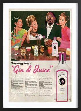 Gin & Juice Framed Print