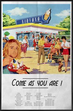Come As You Are ingelijste poster
