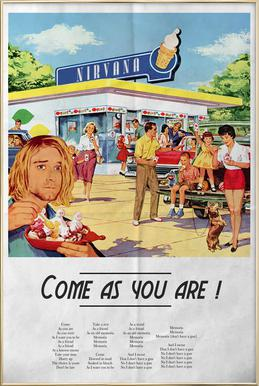 Come As You Are -Poster im Alurahmen