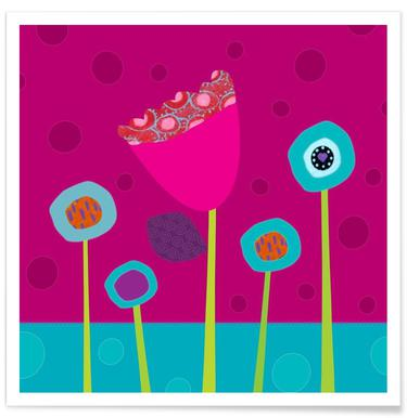 Colourful Flowers affiche