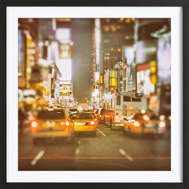 Saturday Night in New York City Framed Print