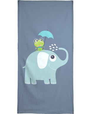 Elephant Frog Bath Towel