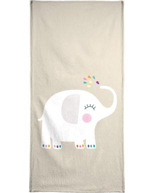 Elephant Rainbow Bath Towel