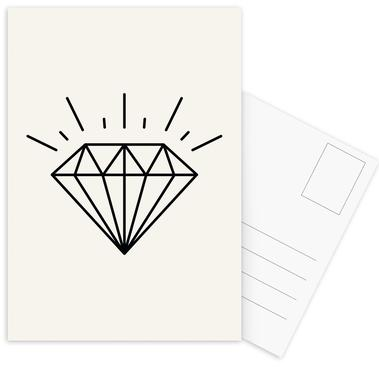 Diamond Postcard Set