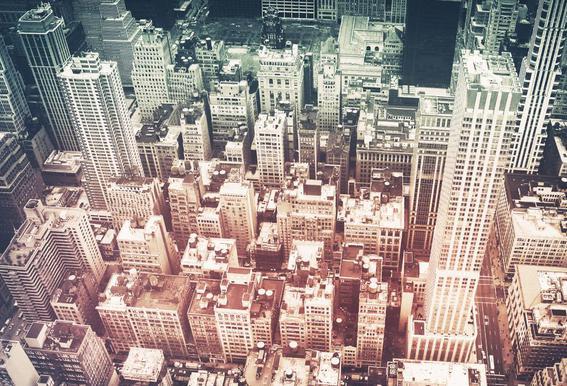 Manhattan's Buildings -Alubild