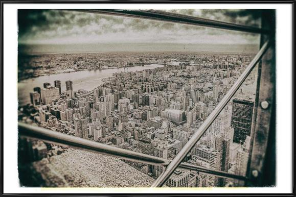 New York From the Empire State building Framed Poster