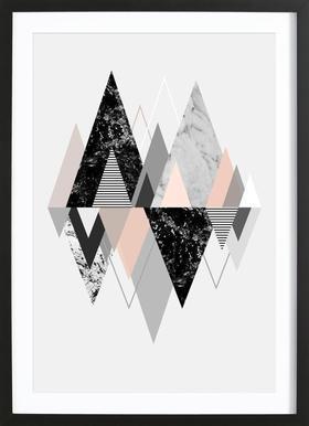 Graphic 117 ingelijste print