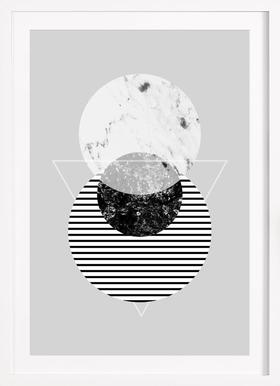 Minimalism 9 - Poster in Wooden Frame