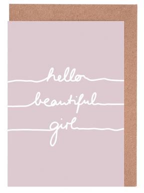 Hello Beautiful Girl -Grußkarten-Set