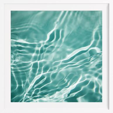 Water 4 - Poster in Wooden Frame