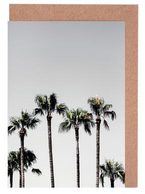 Palm Trees 5 Gratulationskort i satt