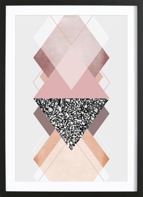 Geometric Textures 9 ingelijste print