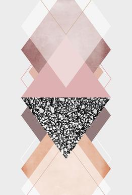 Geometric Textures 9 Aluminium Print