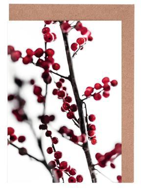Red Berries 1 Greeting Card Set