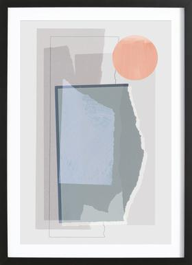 Pieces 10B ingelijste print