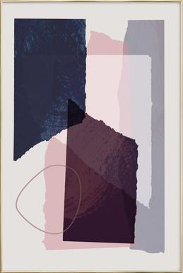 Pieces 12 -Poster im Alurahmen