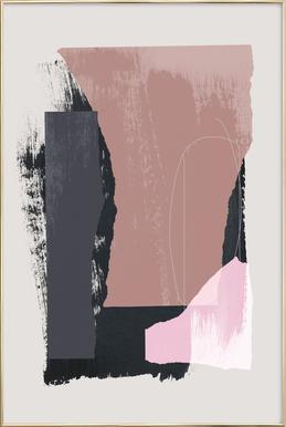 Pieces 14 -Poster im Alurahmen