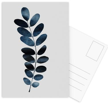 Watercolor Leaves 11 ansichtkaartenset