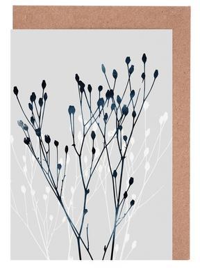 Watercolor Leaves 12 wenskaartenset