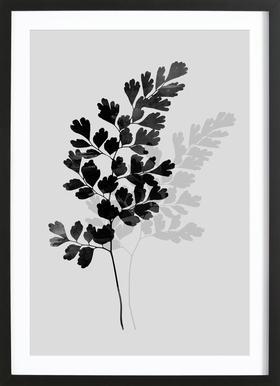 Watercolor Leaves 14 ingelijste print