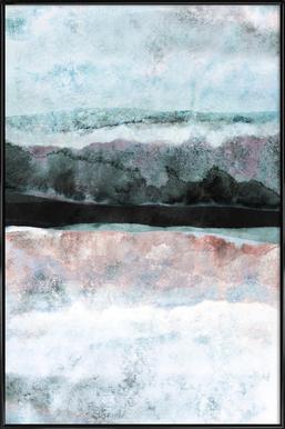 Watercolors 24X -Bild mit Kunststoffrahmen