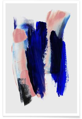 Abstract Brush Strokes 2 poster
