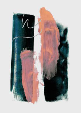 Abstract Brush Strokes 3X