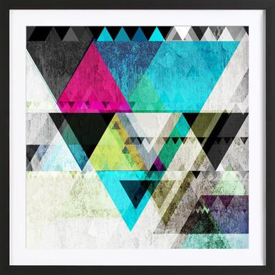 Graphic 4 X Framed Print