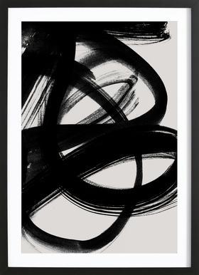 Abstract Brush Strokes 5 Framed Print