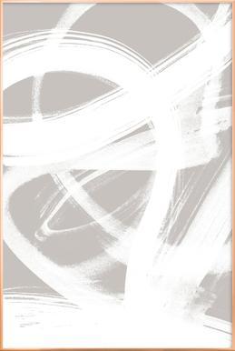 Abstract Brush Strokes 6 Poster in Aluminium Frame