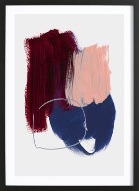 Abstract Brush Strokes 10X Framed Print