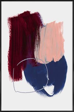 Abstract Brush Strokes 10X Framed Poster