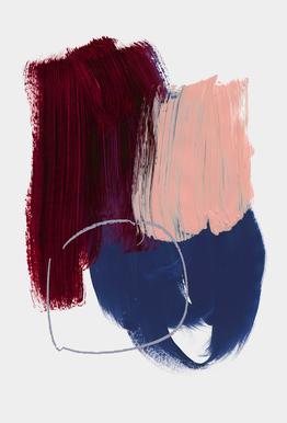 Abstract Brush Strokes 10X Acrylic Print