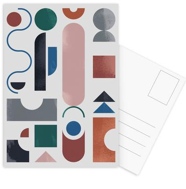 Geometric Shapes 1 -Postkartenset