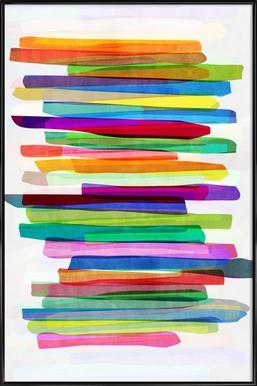 Colorful Stripes 1 - Affiche sous cadre standard