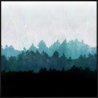 Woods Abstract -Bild mit Kunststoffrahmen