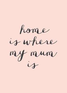 Home Is where My Mum Is toile