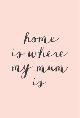 Home Is where My Mum Is Aluminium Print