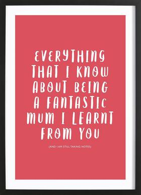 Everything I Know Framed Print