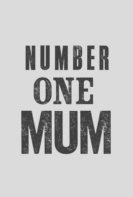 Number One Mum Impression sur alu-Dibond