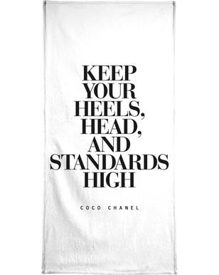 Keep Your Heels Beach Towel