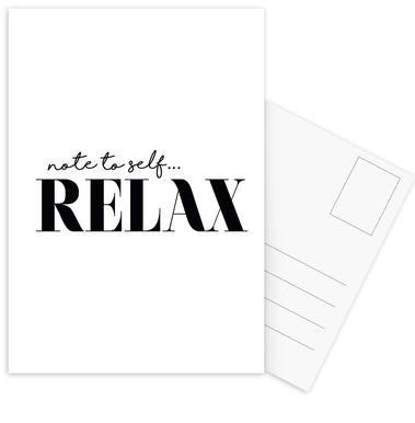 Note To Self Relax Postcard Set