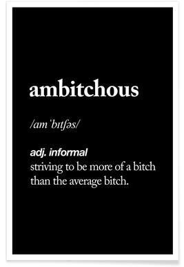 Ambitchous -Poster