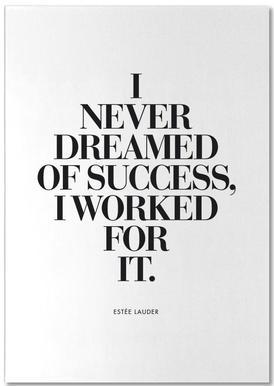 Dreamed Of Success bloc-notes